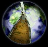 Tierra y cierre relámpago Stock de ilustración