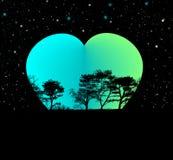 Tierra y corazón, mi ilustración del planeta stock de ilustración