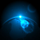 Tierra y espacio Imágenes de archivo libres de regalías