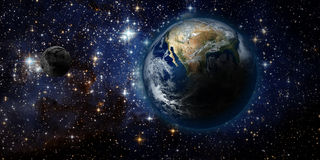 Tierra y espacio Imagenes de archivo