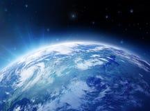 Tierra y estrellas Imágenes de archivo libres de regalías