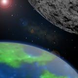 Tierra y galaxia Fotos de archivo libres de regalías