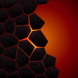 Tierra y lava agrietadas del vector Foto de archivo libre de regalías