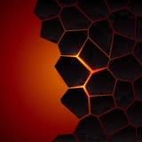 Tierra y lava agrietadas del vector Imagenes de archivo