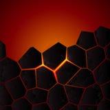Tierra y lava agrietadas del vector Fotografía de archivo libre de regalías