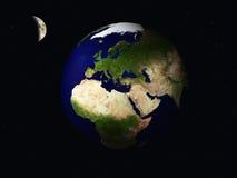 Tierra y luna Fotografía de archivo libre de regalías