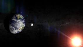 Tierra y luna Imagenes de archivo