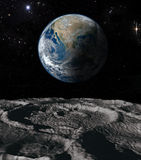 Tierra y luna Imagen de archivo libre de regalías