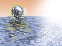tierra y proteccion ambiente del medio иллюстрация вектора