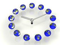 Tierra y reloj stock de ilustración