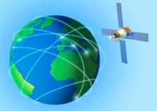 Tierra y satélite Fotografía de archivo