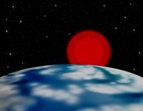 Tierra y Sun Fotografía de archivo libre de regalías