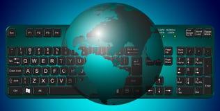 Tierra y teclado Imagenes de archivo