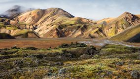 Tierras de Colourfull Fotografía de archivo libre de regalías