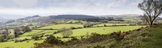 Tierras de labrantío de Dartmoor Fotos de archivo libres de regalías