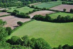 Tierras de labrantío de Devon fotos de archivo