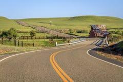 Tierras de labrantío de la carretera nacional Imágenes de archivo libres de regalías