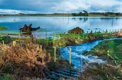 Tierras de labrantío de la inundación Fotografía de archivo libre de regalías