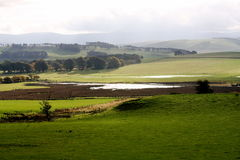 Tierras de labrantío en Dumfries y Galloway imagen de archivo libre de regalías