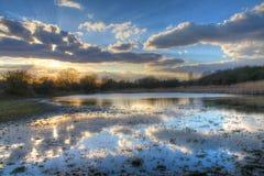 Tierras de labrantío inundadas. Fotos de archivo