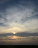 Tierras de labrantío por la mañana Fotografía de archivo