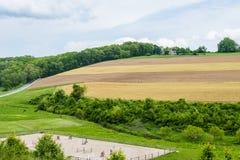 Tierras de labrantío que rodean a William Kain Park en el condado de York, Pennsylva Fotos de archivo