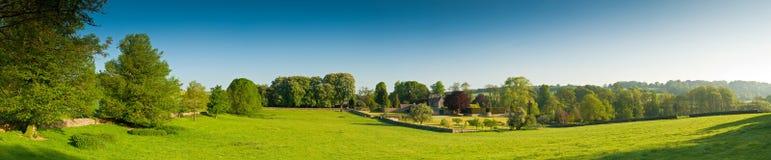 Tierras de labrantío rurales idílicas, Cotswolds Reino Unido imagen de archivo libre de regalías