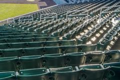 Tiers of seats for spectators on a sports arena royalty free stock image
