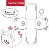 Tiersammlungsvektor Illustration des Kastens lizenzfreie abbildung