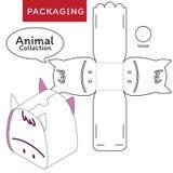 Tiersammlungsvektor Illustration des Kastens stock abbildung