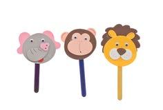 Tiersteuerknüppel-Marionetten Stockfotos