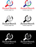 Tiersuchlogo Stockfoto