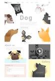 Tierwebsiteschablonenfahne und infographic mit Hund Lizenzfreies Stockbild