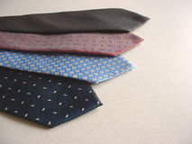 Ties. Four ties Stock Image