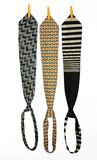 Ties. Three Ties Hanging On a Rope With Wooden Pegs Stock Photos