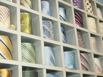 Ties. Show-window of ties Royalty Free Stock Image