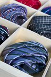 Ties. In a tie drawer Stock Photos
