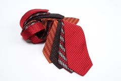 Ties. Group of different coloured ties Royalty Free Stock Images