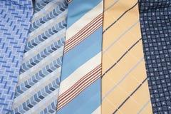Ties. Five sorts of men's ties Royalty Free Stock Image
