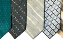 Ties. Silk ties isolated on white. background Royalty Free Stock Image