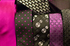 Ties 2. Composition of neckties with diferents colors Royalty Free Stock Images