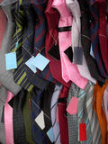 Ties. Many ties in many colors Royalty Free Stock Image