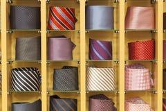 Ties. Men ties in different colours Stock Photos