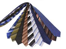 Ties. Lots of ties isolated over white Royalty Free Stock Images