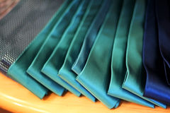 Ties. Dress Ties Arranged for Display in a Men's Wear Store Royalty Free Stock Images