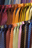 Ties. Some ties on a display window Royalty Free Stock Images