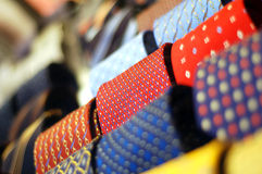 Ties. A stock of colored ties Stock Photos