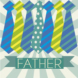 Ties. Abstract ties representing father's day symbol on special background stock illustration