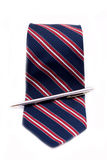 Ties and ball-pen Royalty Free Stock Photography
