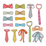 Ties and Bow Ties,  illustration Royalty Free Stock Photos